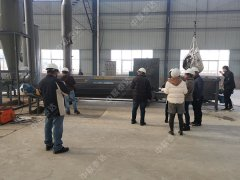 Indonesia Customer Inspect Sludge Dryer In